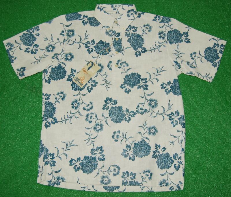 アロハシャツ REYN SPOONER(レインスプーナー) RS439 半袖 メンズ オフホワイト 花・フラワー柄 小花 ハワイアン 南国 リゾート コットン100%(スプーナークロス) 裏生地仕様 プルオーバー 送料無料商品