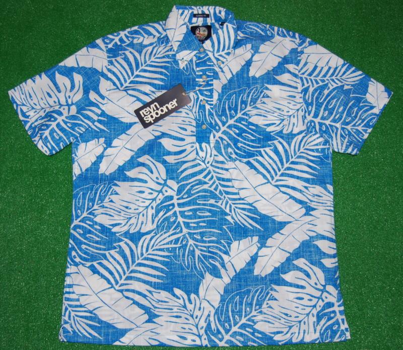 Blue Generation Mens Hawaiian Shirt Size
