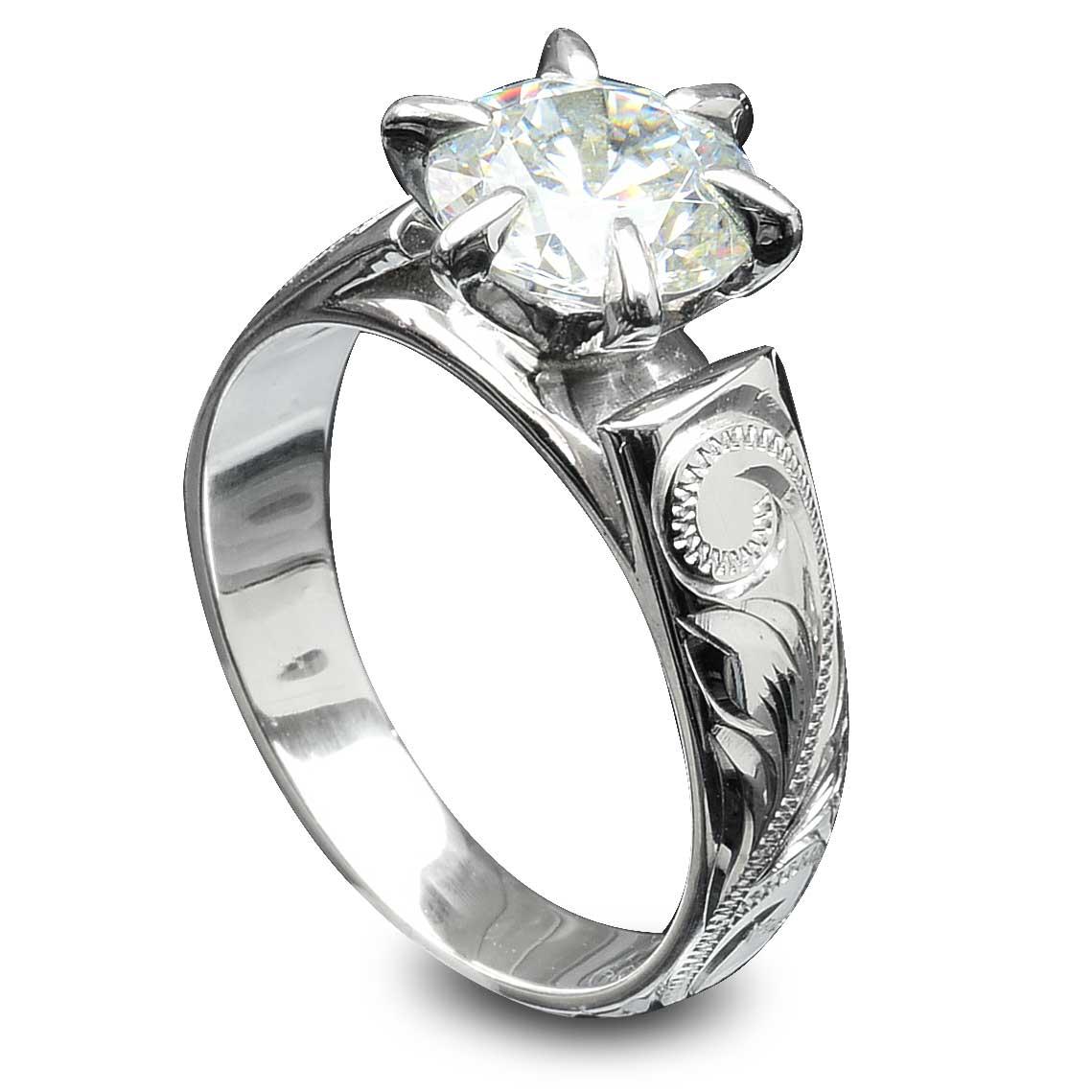 スワロフスキー リング 指輪 ハワイアンジュエリー アクセサリー レディース 女性 大粒 ビジュー 一粒 スワロフスキーCZダイヤ(キュービック ジルコニア ) ひと粒 フレンチマウント シルバーリング ari1229