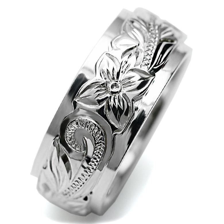 【文字刻印無料】【2個同時購入】で特典あり♪重ねられたデュアルテイストが美しい  指輪 ハワイアンジュエリー リング アクセサリー レディース 女性 メンズ 男性 ペアリングにオススメ デュアルトーンリング シルバー 925【楽ギフ_名入れ】ambri006sv