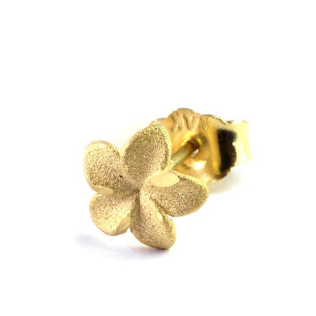 耳元に可憐に咲くプルメリア ピアス ハワイアンジュエリー レディース 女性 永遠の定番モデル K14 ゴールド 14金 スタッド 片耳用 ピンクゴールド イエローゴールド プルメリア ついに再販開始 bpe1413 ホワイトゴールド