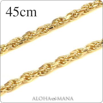 【ブラックフライデーポイント10倍】ゴールドネックレス ネックレス ハワイアンジュエリー ネックレス (Weliana)ネックレス カットロープチェーン幅2.0mm(長さ40cm)K14イエローゴールド dchyrop21037wch プレゼント gold necklace
