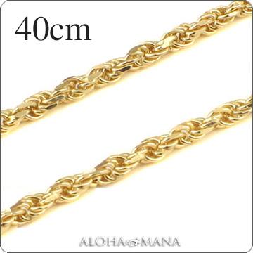 ゴールドネックレス ネックレス ハワイアンジュエリー ネックレス (Weliana)ネックレス カットロープチェーン幅2.0mm(長さ40cm)K14イエローゴールド dchyrop21037 プレゼント ギフト gold necklace