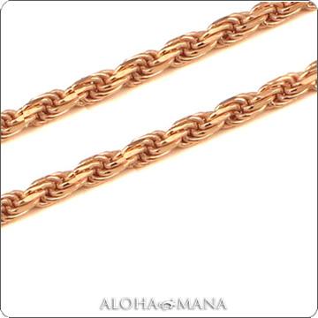 ハワイアンジュエリー ネックレス (Weliana)ネックレス カットロープチェーン幅1.0mm(長さ40cm・45cm・50cm)K14ピンクゴールド dchprop11049