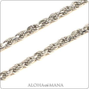 ネックレス ハワイアンジュエリー ネックレス (Weliana)ネックレス カットロープチェーン幅1.0mm(長さ40cm・45cm・50cm)K14ホワイトゴールド dchwrop11040