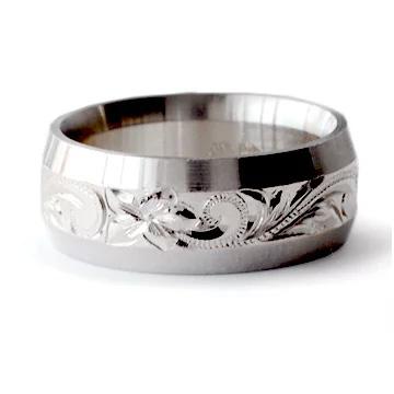 (Weliana)ONLYONE マリッジリング 結婚指輪 ハワイアンジュエリー リング レディース 女性 メンズ 男性 ソリッドエッジ・ ゴールドリングcdr071(幅6mm・8mm) オーダーメイド ハンドメイド プレゼント ギフト