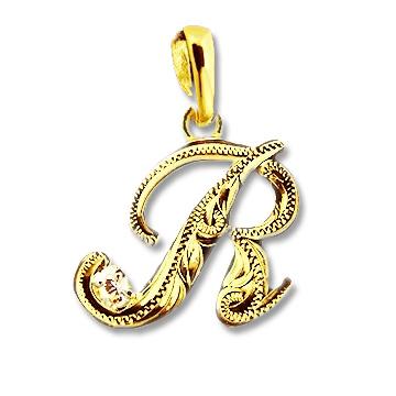 ゴールドネックレス ネックレス ハワイアンジュエリー アクセサリー レディース 女性 メンズ 男性 イニシャル[Maxi]マキシ スクリプト・イニシャルペンダントトップ・アクセントダイヤモンドK14GOLD (付属チェーンなし) mxpd0101yg プレゼント ギフト gold necklace