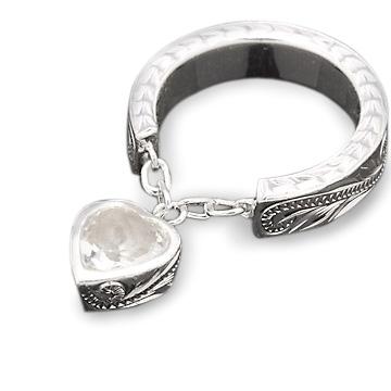 指輪リング ハワイアンジュエリー レディース 女性 [Maxi]マキシ スウィンギングクオーツハートリング シルバー 925 mxri0109sv プレゼント ギフト