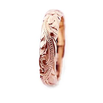 指輪リング ハワイアンジュエリー レディース 女性 メンズ 男性 [Maxi]マキシ オールドイングリッシュ・カットアウトリング K14ピンクゴールド mxri0133pg