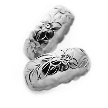 指輪リング ハワイアンジュエリー レディース 女性 メンズ 男性 [Maxi]マキシ カットアウト・トラディショナルリング8mm K14ホワイトゴールド mxri0343wg