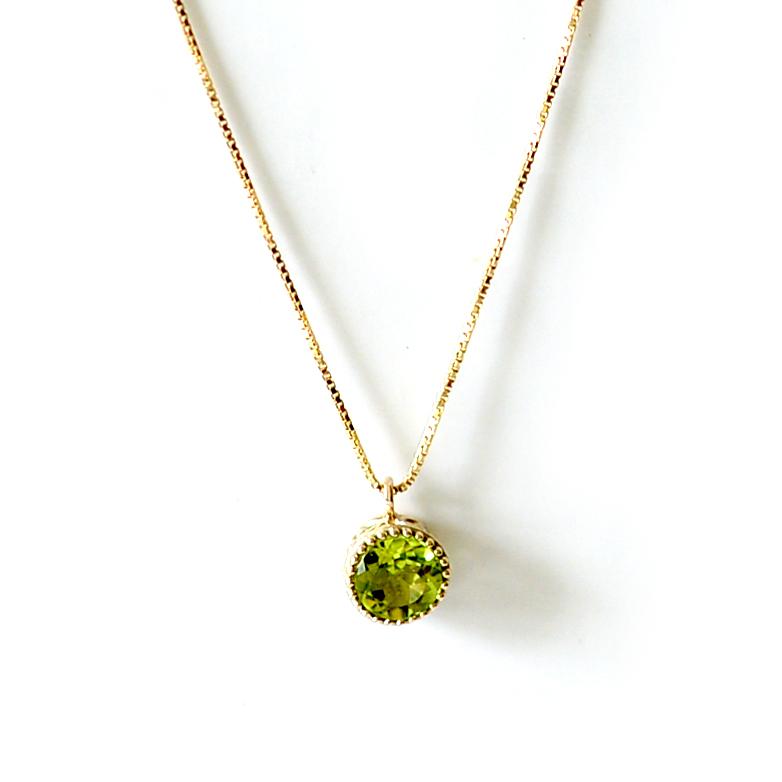 ゴールドネックレス (RERALUy)ネックレス レディース 女性 アクセサリー K10 または K18 ゴールド ペリドット ミル打 ハート クラウン イエローゴールド ペンダント rne1161 プレゼント ギフト gold necklace