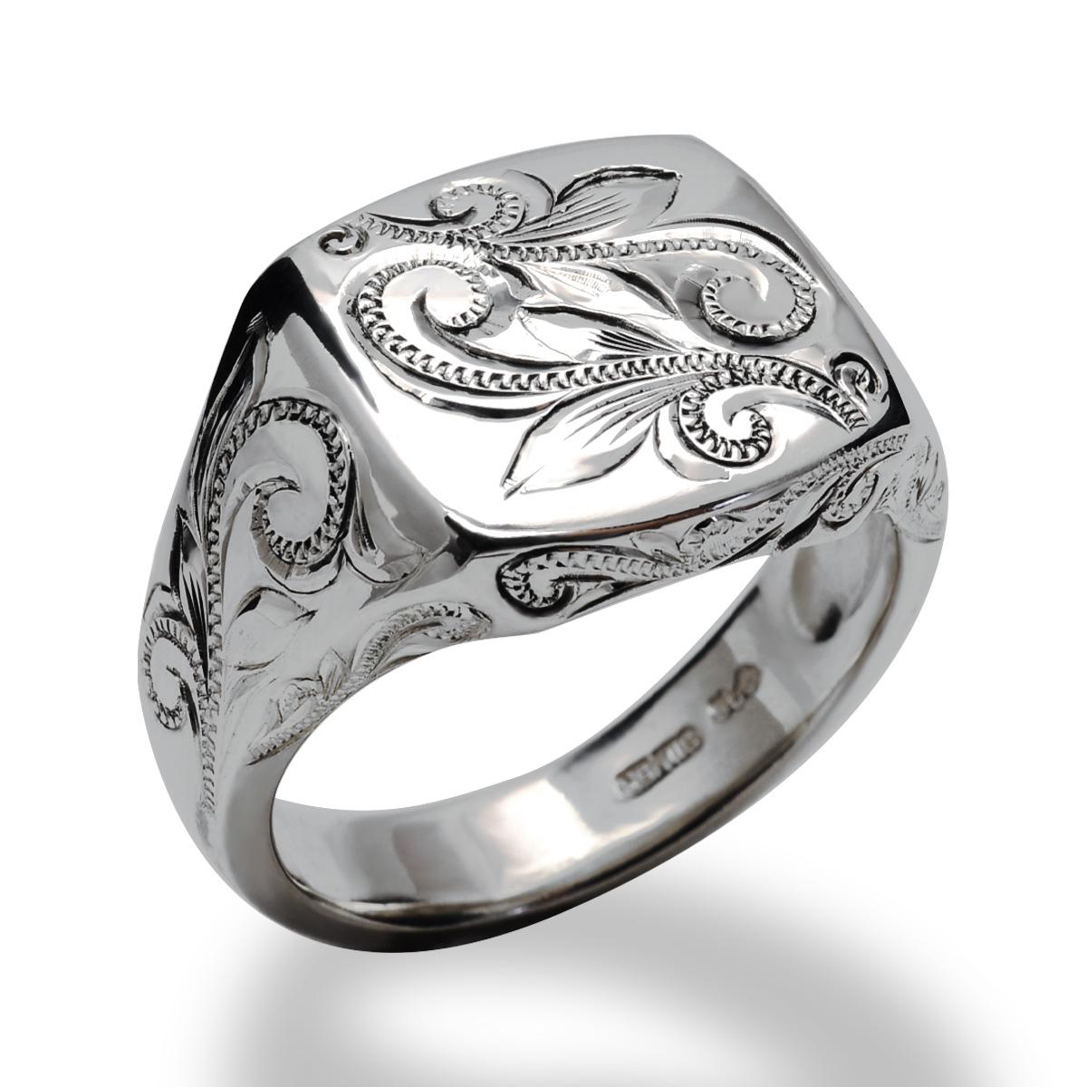 ハワイアンジュエリー シルバー925 SILVER925 silver925 リング 指輪 レディース 女性 メンズ 男性(Weliana) スクロール シグネットリング wri1464/新作 プレゼント ギフト新作