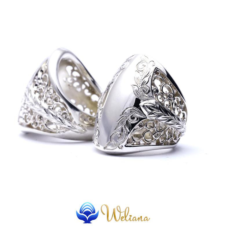【感謝SALE】リング 指輪 ハワイアンジュエリー レディース 女性 メンズ 男性 (Weliana) BLOW ブロウ スクロール シルバーリング シルバー 925 wri1468/ 新作