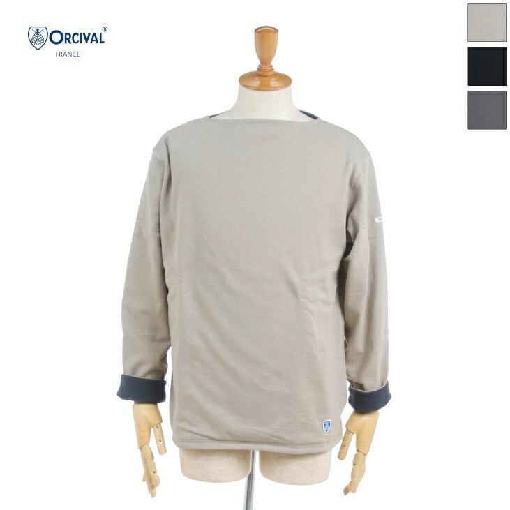 5と0のつく日はポイント15倍 ORCIVAL オーチバル オーシバル メンズ リバーシブル コットンロード ロンT RC-9104 輸入 正規取扱店 バスクシャツ 2020秋冬 フリースライニング 長袖Tシャツ