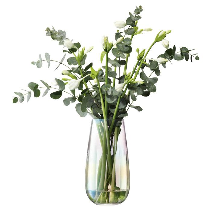 全国一律送料無料 スタイリッシュで綺麗なフラワーベースです エルエスエー 花器 花瓶 フラワーベース LSA LPE22 パール 高さ28cm Vase G1401-28-916 ラッピング無料 Pearl