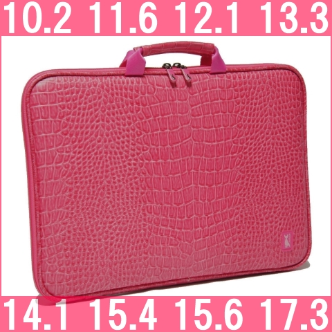 Croc-pink ♪ 13.3-inch for your PC case! laptop bag ☆ shock absorbing type  of fashionable and cute women s PC case cda94e383