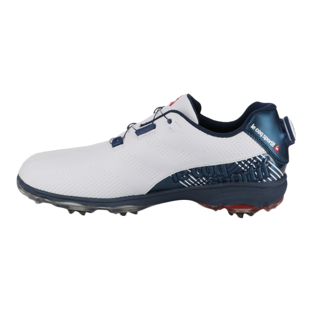 ルコック (QQ2NJA00) メンズ ゴルフ ダイヤル式スパイクシューズ : ホワイト×ブルー le coq sportif