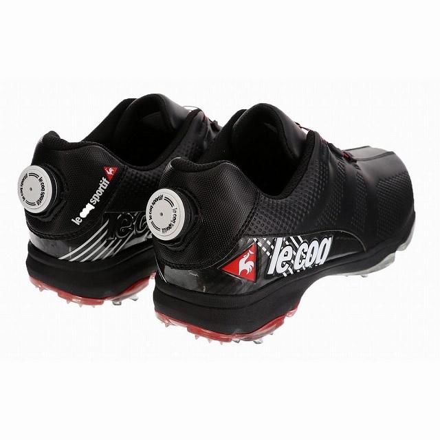 ルコック (QQ2NJA02) メンズ ゴルフ ダイヤル式スパイクシューズ : ブラック le coq sportif
