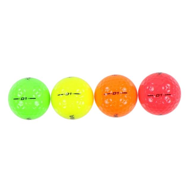 ホンマ HONMA D1 (BT1801) マルチカラー ゴルフ ボール 1ダース 12個入 公認球