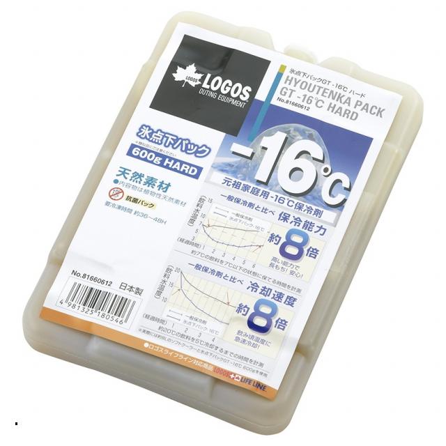 ロゴス 氷点下パックGT-16℃ ハード600g セール開催中最短即日発送 81660612 LOGOS 保冷剤 キャンプ 購買