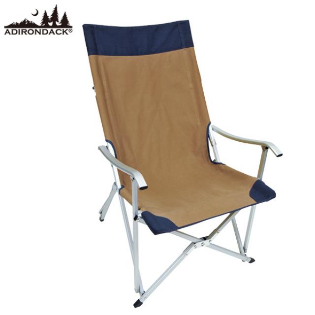 アディロンダック キャンパーズチェア ベージュ×ネイビー (8900900501) キャンプ チェア ADIRONDACK