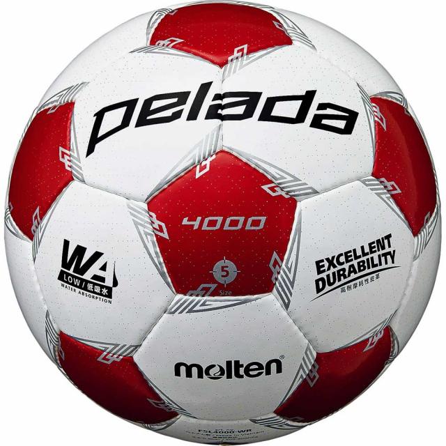 【10/1はエントリーでP5倍!】 モルテン ペレーダ4000 (F5L4000-WR) サッカーボール 5号球 検定球 molten