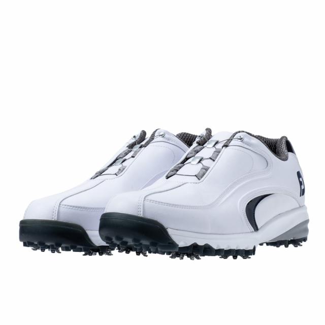 フットジョイ ゴルフシューズ 19 ウルトラフィット オリジナル ボア WT NV 54185 メンズ ダイヤル式スパイクシューズ 受賞店 JOY ホワイト×ネイビー FJ FOOT 4E ゴルフ