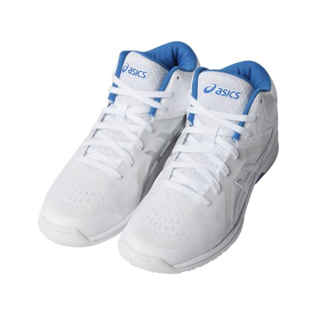 アシックス LADY GELFAIRY 8 (TBF403) レディス バスケットボール シューズ E : ホワイト×ブルー asics