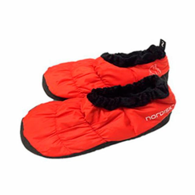 ノルディスク Mos down shoes モス・ダウン・シューズ リボンレッド M (109060 Ribbon Red) キャンプ スリーピングギア nordisk