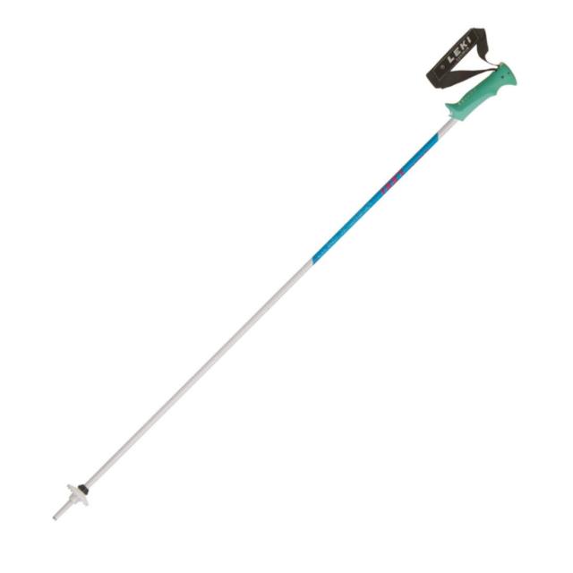 【12/25 20時~4h限定!エントリーでP10倍!】 レキ SAPHIR (6433731 WTM) 19-20年モデル スキー ストック ポール : ホワイト×ブルー LEKI