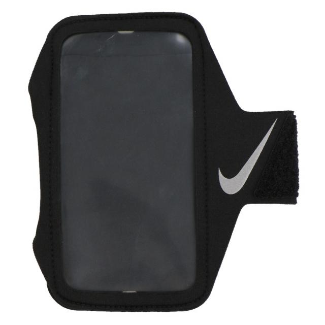 ナイキ リーン アームバンド プラス DG2020 082 陸上 大型スマートフォン対応 ランニング アームポーチ : ブラック×シルバー NIKE