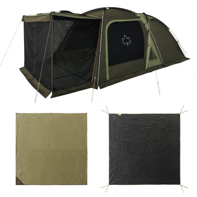 ロゴス LOGOS テントチャレンジセットneos 3ルームドゥーブル XL-BJ 71809559 キャンプ 3ルームテント シェルター 大型 スクリーンテント LOGOS