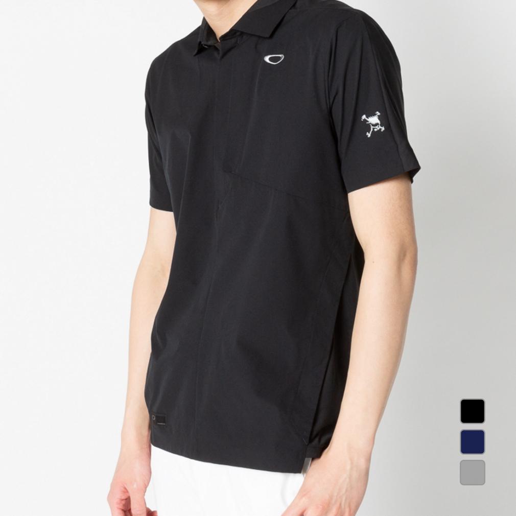 オークリー ゴルフ 立体裁断採用 半袖シャツ Skull Synchronism WV Shirts 3.0 (FOA400784) 細めでも動きやすい 究極の快適性 メンズ OAKLEY