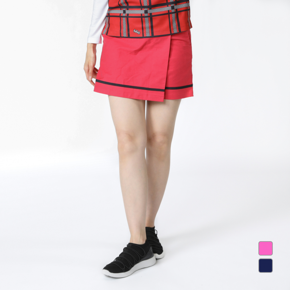 未使用品 最大10%OFFクーポン お買い物マラソン限定 コルウィン レディース ゴルフウェア メーカー公式 スカート Kolwin インナーキュロット付きスカート KO-1B2840SK 巻きスカート風