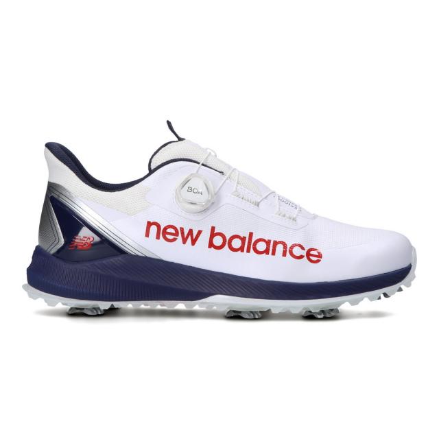 迅速な対応で商品をお届け致します ニューバランス ゴルフシューズ 爆買い新作 FuelCell 1001V3_ MGB10012E メンズ ゴルフ : Balance 2E ダイヤル式スパイクシューズ New ホワイト×ネイビー