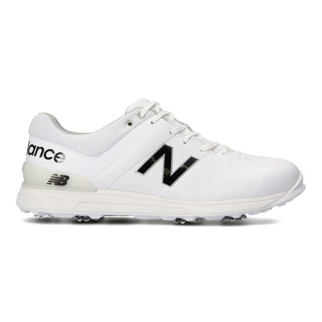 ニューバランス 卸直営 ゴルフシューズ UG25002E メンズ ゴルフ シューレース式スパイクシューズ 人気上昇中 ホワイト : New 2E Balance
