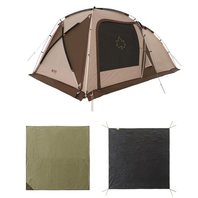 ロゴス Tradcanvas ドゥーブルテントセット 71805591 流行のアイテム 人気ブランド多数対象 キャンプ LOGOS スクリーンテント