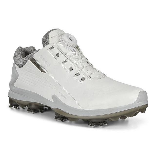 エコー ゴルフシューズ バイオム 全店販売中 G3 エクステンザ ボア BIOM X-TENZA 3E EG131834 流行 ゴルフ ダイヤル式スパイクシューズ メンズ BOA ホワイト ECCO