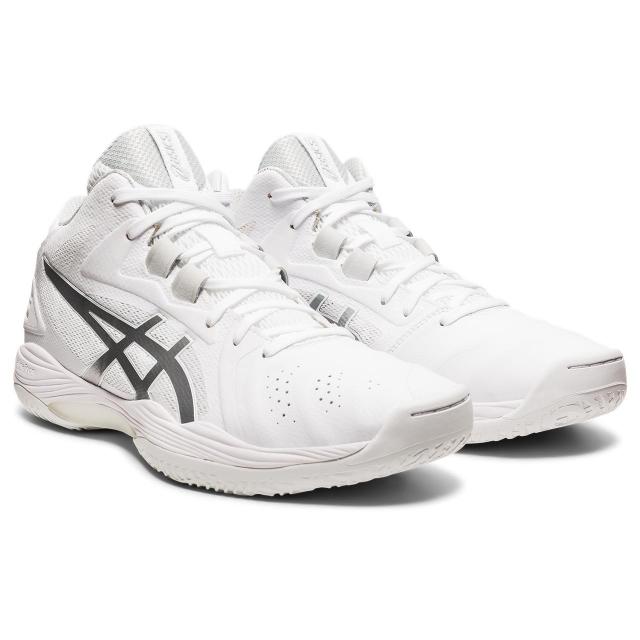アシックス ゲル フープ V13 GELHOOP 1063A035 メンズ レディース シューズ 2E ホワイト×シルバー バッシュ 選択 誕生日プレゼント asics バスケットボール :