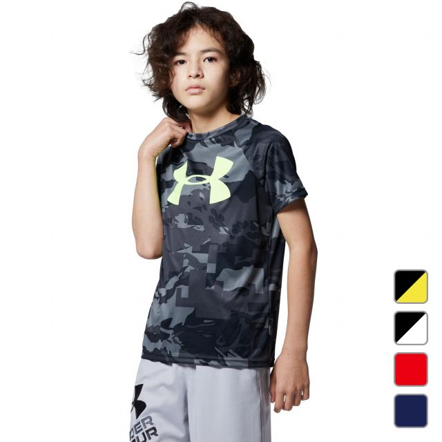 アンダーアーマー ジュニア 激安通販ショッピング キッズ 子供 半袖機能Tシャツ UA Tech Big Logo 安い 1363278 UNDER SS ARMOUR 21clearance Printed 0529T スポーツウェア