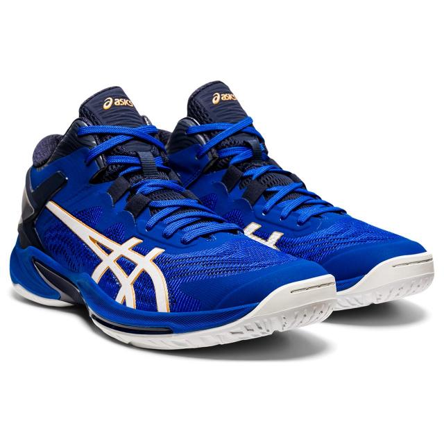 アシックス ゲル バースト ファッション通販 25 GELBURST 1063A032 メンズ レディース ブルー×ホワイト バスケットボール : バッシュ asics 待望 2E シューズ