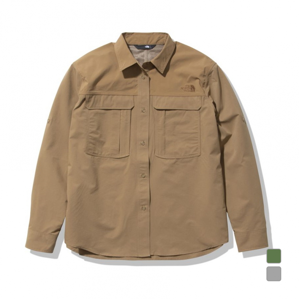 9 在庫処分 30~10 日本 1 買えば買うほど 最大10%OFFクーポン 2021春夏 ノースフェイス レディース アウトドア シーカーズシャツ 長袖シャツ FACE Shirt NRW12101 Seekers NORTH THE
