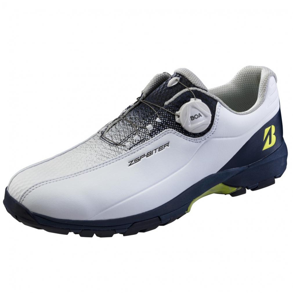 ブリヂストン ゴルフシューズ ゼロスパイクバイターライト2 SHG150 メンズ ゴルフ 高い素材 : ホワイト×ネイビー 全国どこでも送料無料 ダイヤル式スパイクレスシューズ BRIDGESTONE 3E