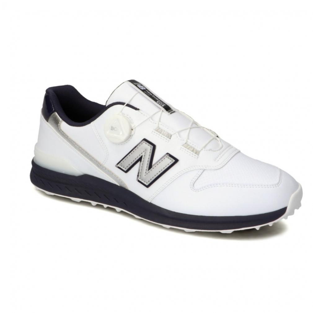 ニューバランス お得クーポン発行中 タイムセール ゴルフシューズ UGBS996D メンズ ゴルフ ダイヤル式スパイクレスシューズ New : Balance D ホワイト×ネイビー