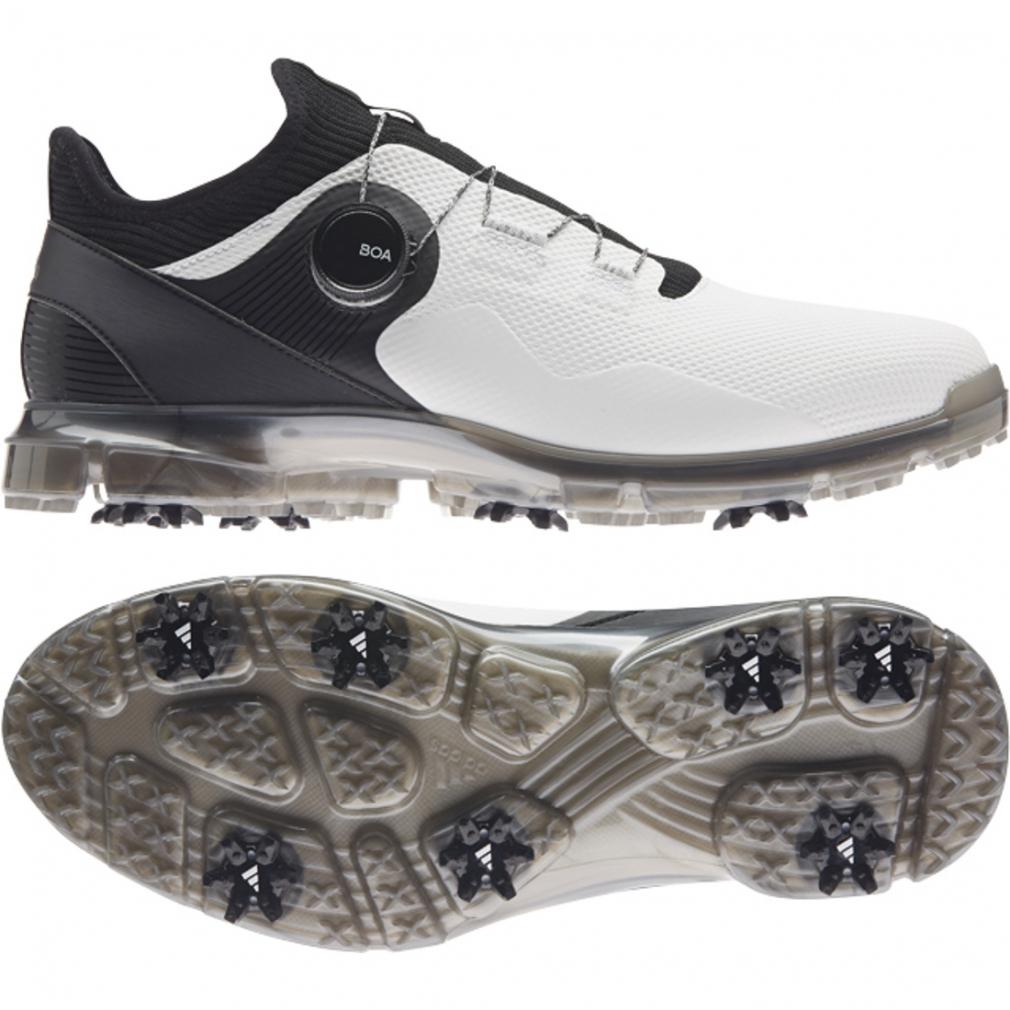 【9/15】 買えば買うほど★ 最大10%OFFクーポン アディダス ゴルフシューズ アルファフレックス21ボア (LGD01) 類を見ない快適なフィット感 メンズ ゴルフ ダイヤル式スパイク 3E : ホワイト×ブラック adidas