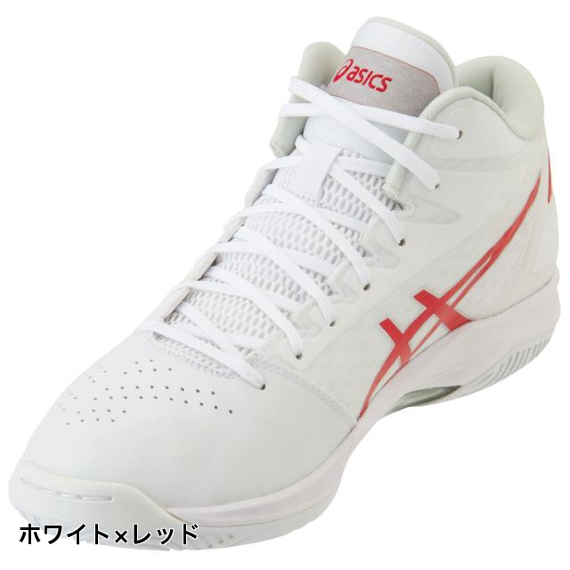 アシックス ゲル フープ GELHOOP V11 (1061A015) バスケットボール シューズ : ホワイト×レッド レギュラー asics