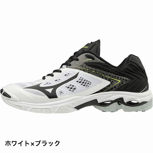 ミズノ ウェーブ ライトニング Z5 (V1GA190009) メンズ レディース バレーボール シューズ : ホワイト×ブラック MIZUNO