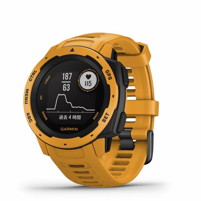 ガーミン Instinct Sunburst アウトドア マルチスポーツ 耐久性 光学式心拍計搭載 MIL GPS スマートウォッチ 010-02064-42 GARMIN