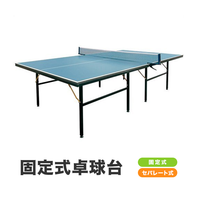 〔特選品〕卓球台 国際規格サイズ セパレート式 (固定式)〔代引可能〕(PB-2PG0019) カラー:ネイビー