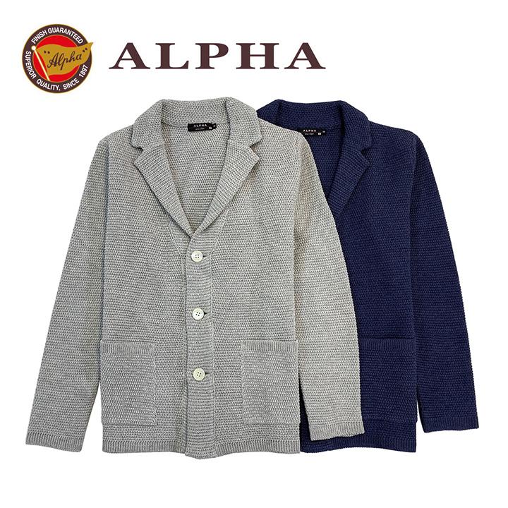 ギフト 日本製 《送料無料》1897年創業アルファー【ALPHA】綿100% メンズ・ジャケット 春夏